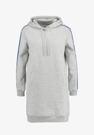 HOODED MONOGRAM TAPE DRESS - Korte jurk - light grey heather
