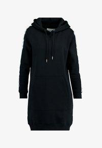 Calvin Klein Jeans - HOODED MONOGRAM TAPE DRESS - Vestido informal - ck black - 4