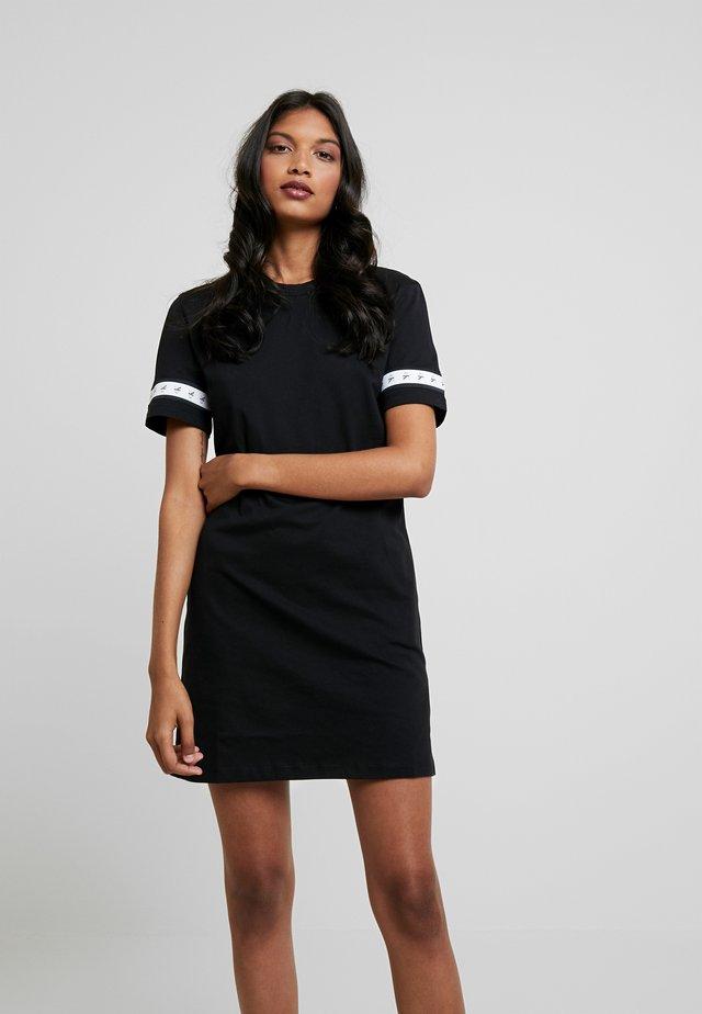 MONOGRAM TAPE DRESS - Denní šaty - black