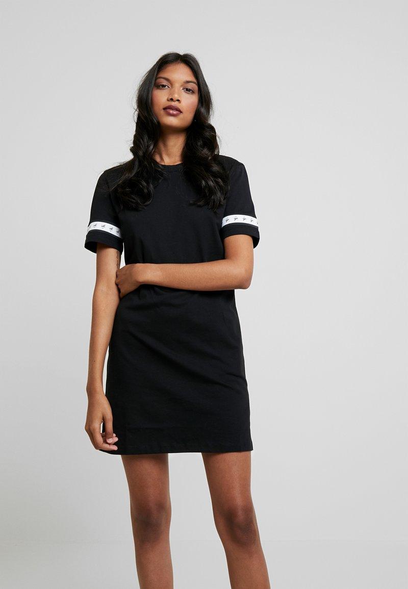 Calvin Klein Jeans - MONOGRAM TAPE DRESS - Freizeitkleid - black
