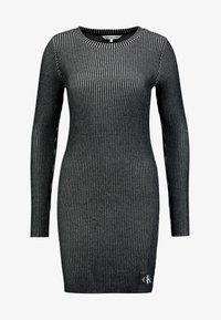 Calvin Klein Jeans - LONG SLEEVE DRESS - Pouzdrové šaty - black - 5