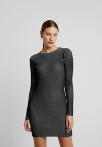 Calvin Klein Jeans - LONG SLEEVE DRESS - Pouzdrové šaty - black - 0