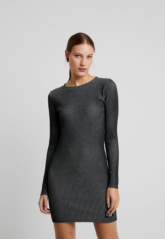 LONG SLEEVE DRESS - Etui-jurk - black
