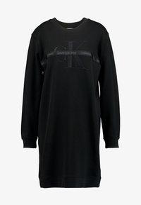 Calvin Klein Jeans - TAPING THROUGH MONOGRAM DRESS - Vestido informal - black - 5