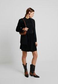 Calvin Klein Jeans - SKATER DRESS - Denní šaty - black - 2