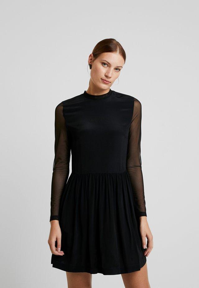 SKATER DRESS - Korte jurk - black