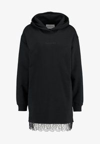 Calvin Klein Jeans - HOODED DRESS - Vestido informal - black - 5