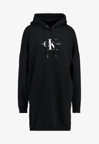 Calvin Klein Jeans - MONOGRAM HOODIE DRESS - Vestido de punto - black beauty - 5