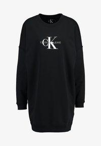Calvin Klein Jeans - MONOGRAM CREWNECK DRESS - Denní šaty - black beauty - 4