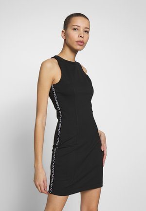 LOGO ELASTIC FITTED MILANO DRESS - Jerseyjurk - black