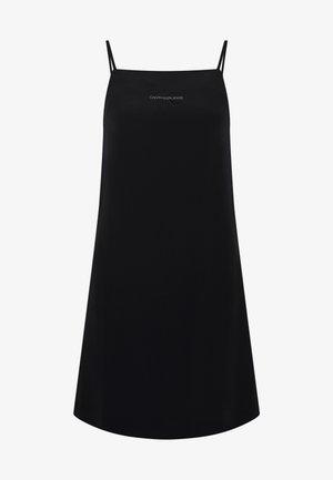 MONOGRAM SLIP DRESS - Kjole - black