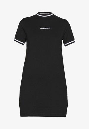 NECK AND CUFF TIPPING TEE DRESS - Jersey dress - ck black