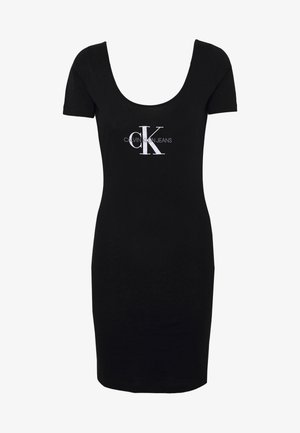 MONOGRAM STRIPE BALLET DRESS - Jerseykjole - black