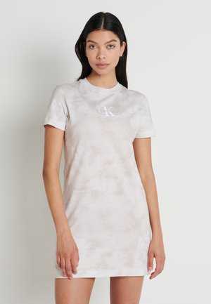 TIE DYE DRESS - Jerseyjurk - plaza taupe