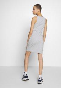 Calvin Klein Jeans - MONOGRAM TANK DRESS - Jerseykjole - light grey heather - 2