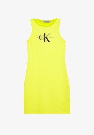 MONOGRAM TANK DRESS - Žerzejové šaty - solar yellow