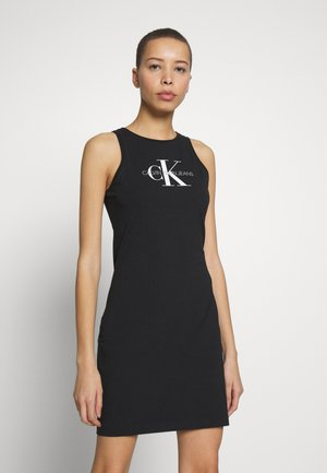 MONOGRAM TANK DRESS - Žerzejové šaty - black