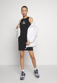 Calvin Klein Jeans - MONOGRAM TANK DRESS - Žerzejové šaty - black - 1