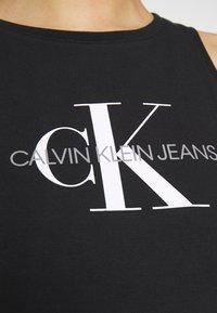 Calvin Klein Jeans - MONOGRAM TANK DRESS - Žerzejové šaty - black - 5