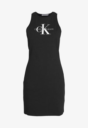 MONOGRAM TANK DRESS - Jersey dress - black