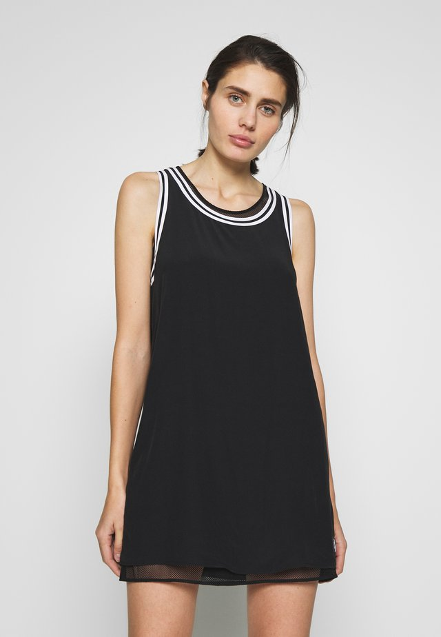 TANK DRESS WITH LINING - Korte jurk - black