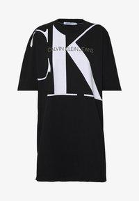 Calvin Klein Jeans - LARGE OVERSIZED DRESS - Jersey dress - black - 4