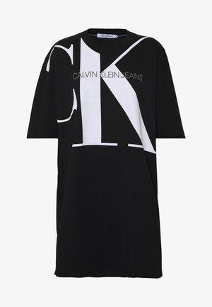 LARGE OVERSIZED DRESS - Robe en jersey - black