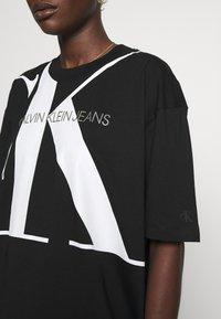 Calvin Klein Jeans - LARGE OVERSIZED DRESS - Jersey dress - black - 5