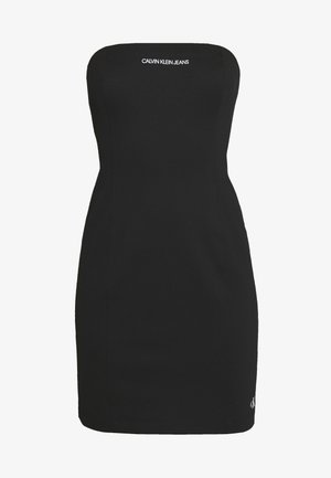 INSTITUTIONAL LOGO TUBE DRESS - Jersey dress - ck black