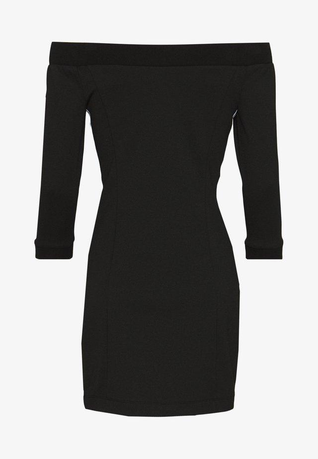 OFF THE SHOULDER MILANO DRESS - Jerseyjurk - black