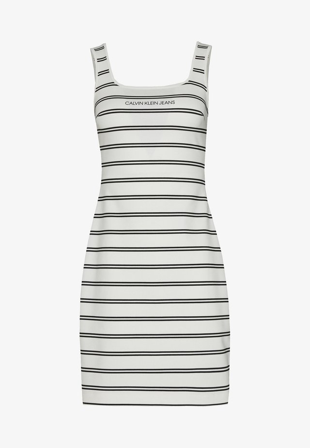 STRIPE MILANO DRESS - Jerseyjurk - creamy white/black