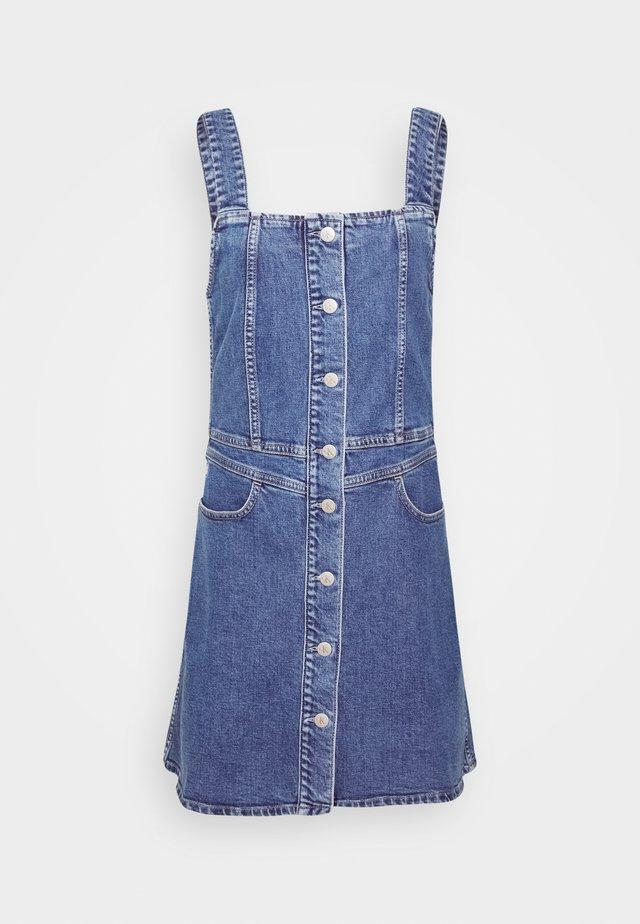 BUTTON DOWN TANK DRESS - Spijkerjurk - light blue