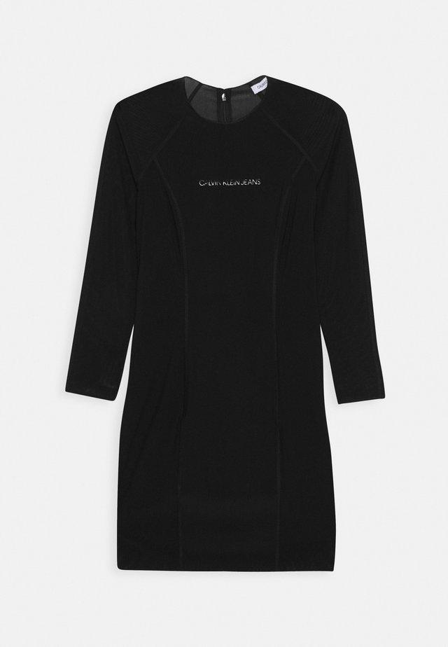 DOUBLE LAYER DRESS - Sukienka letnia - black