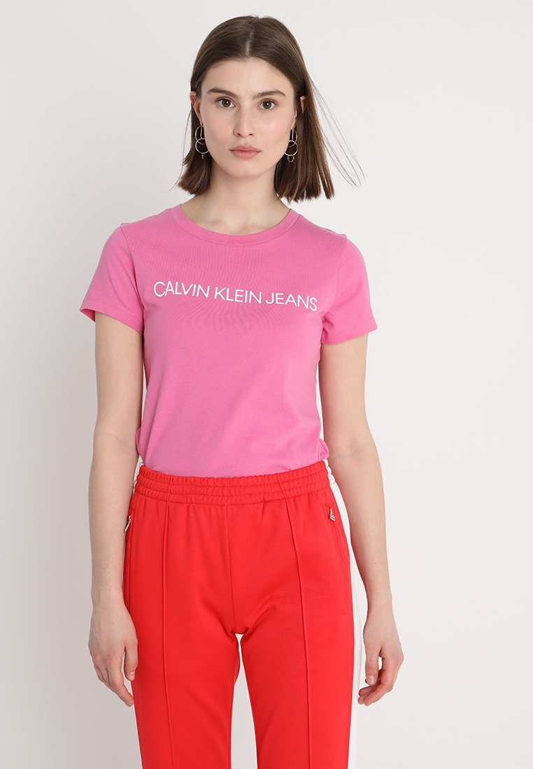 Calvin Klein Jeans - INSTITUTIONAL LOGO TEE - T-shirt con stampa - wild orchid