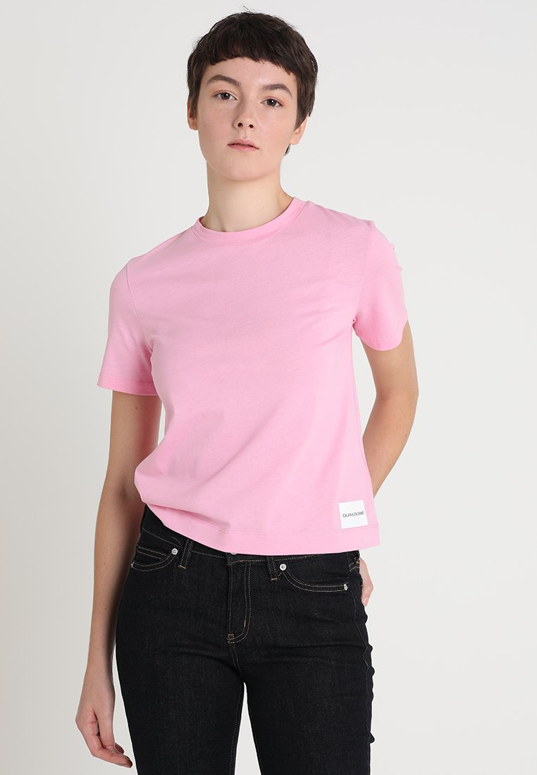 Calvin Klein Jeans - CORE STRAIGHT FIT TEE - T-Shirt print - begonia pink