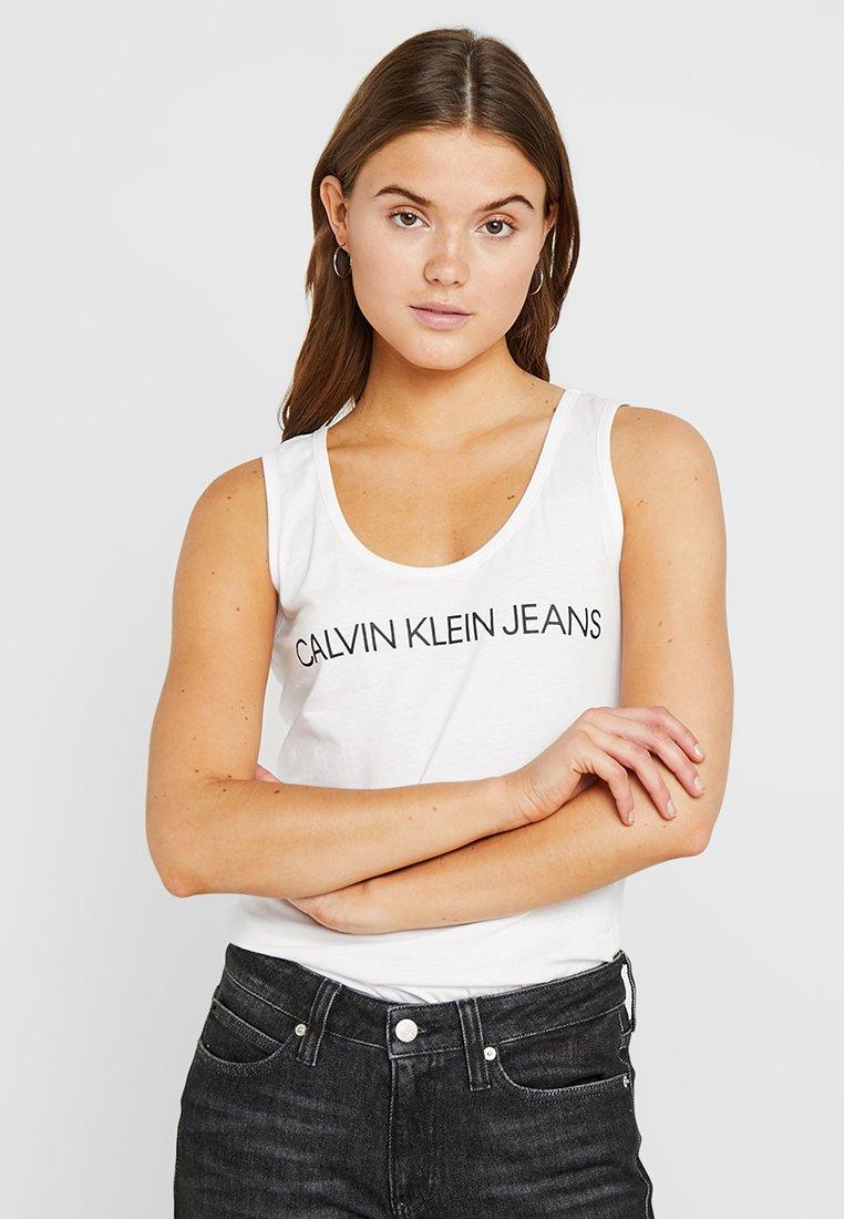 Calvin Klein Jeans - INSTITUTIONAL SLIM TANK - Top - bright white