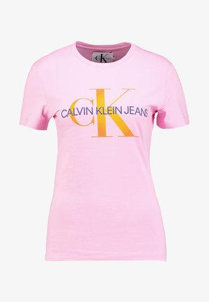 MONOGRAM DEGRADE LOGO SLIM TEE - T-shirts print - begonia pink