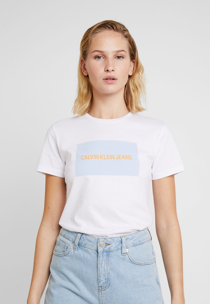 Institutional Box Slim Tee   T Shirt Print by Calvin Klein Jeans