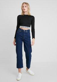 Calvin Klein Jeans - MILANO SLEEVE  - T-shirt à manches longues - black - 1