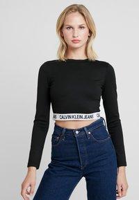 Calvin Klein Jeans - MILANO SLEEVE  - T-shirt à manches longues - black - 0