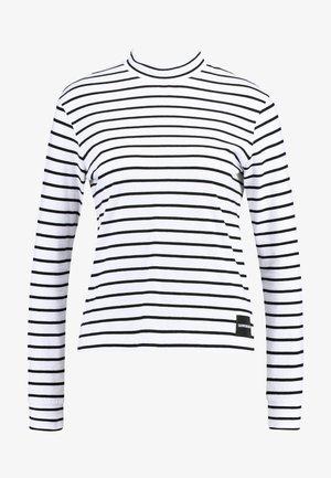 MOCK NECK - Langarmshirt - white/black