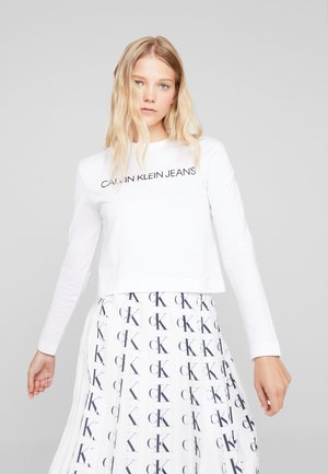 INSTITUTIONAL LOGO CROP - T-shirt à manches longues - bright white