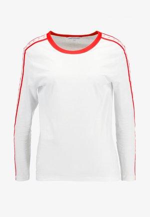 MONOGRAM TAPE STRAIGHT TEE - Longsleeve - bright white / red