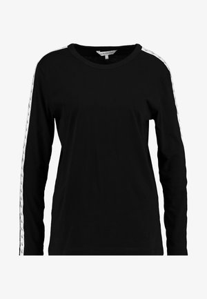MONOGRAM TAPE STRAIGHT TEE - Camiseta de manga larga - black