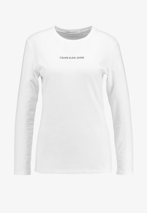 LOGO STRETCH SLIM - Long sleeved top - bright white