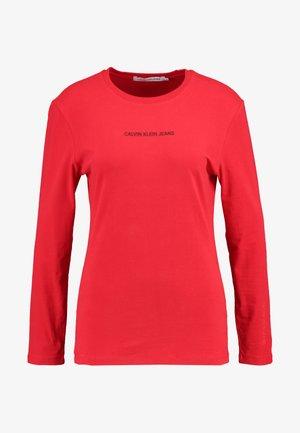 LOGO STRETCH SLIM - Maglietta a manica lunga - racing red