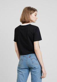 Calvin Klein Jeans - MONOGRAM EMBROIDERY RINGER TEE - T-shirts print - black - 2