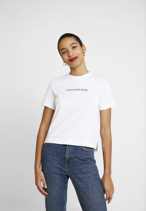SHRUNKEN INSTITUTIONAL LOGO TEE - T-shirt med print - bright white
