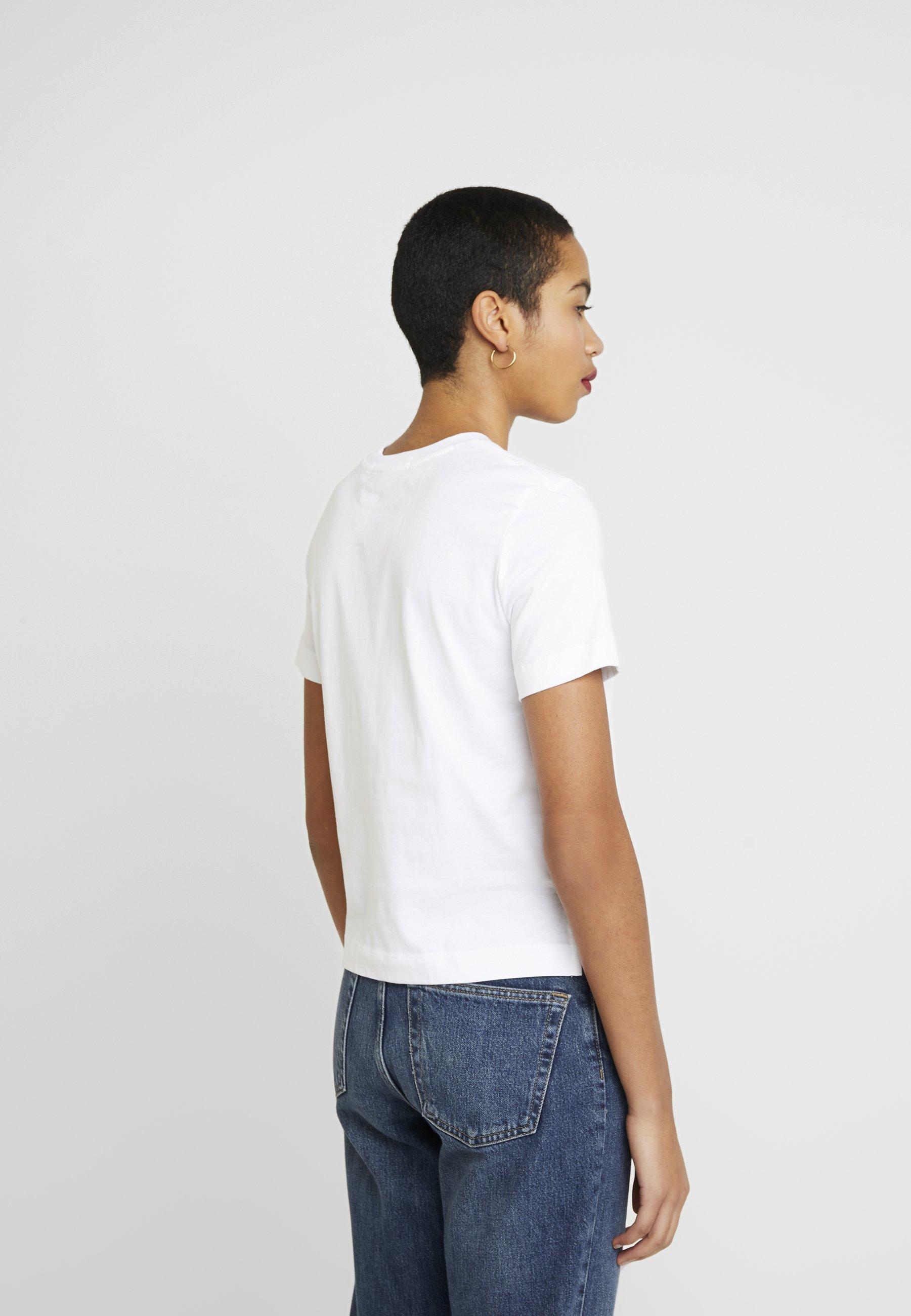 Calvin Klein Jeans Shrunken Institutional Logo Tee - T-shirt Imprimé Bright White