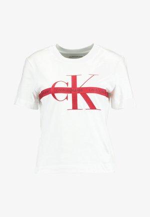 TAPING THROUGH MONOGRAM TEE - T-shirt print - bright white